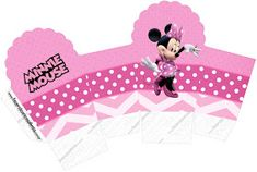 Pretty Minnie in Pink: Free Printable Boxes. Printable Box, Templates Printable Free, Free Printables, Girl Birthday Themes, Kids Party Themes, Minnie Mouse Party Decorations, Birthday Party Decorations, Pink Parties, Mouse Parties