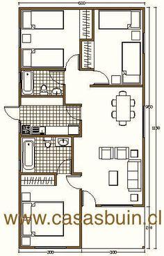 L shaped 50 sqm granny flat plan My House Plans, Cabin Plans, Small House Plans, House Floor Plans, Small Tiny House, Small House Design, Home Design Plans, Plan Design, Flat Plan