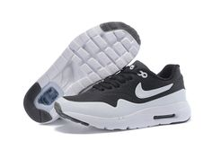 67047c6d4ad6 Grade School s Nike Air Max 1 Ultra Moire CH Running Shoes Oreo Black White  724390-001 UK Trainers Sale