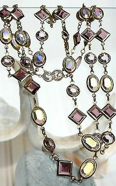 Vintage Swarovski Crystal Bezel Necklace Free Recorded Delivery UK Seller  £59.99