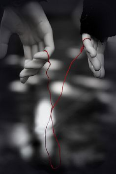 This is, hands-down, my favorite concept of eastern culture. The legend goes that you have an invisible red string of fate tied to your pinky that leads to your soul mate.  No matter how far you go or how long you live, you will find each other. It's so cute !!! - s Xx<<< I always think of Fire Emblem: Awakening