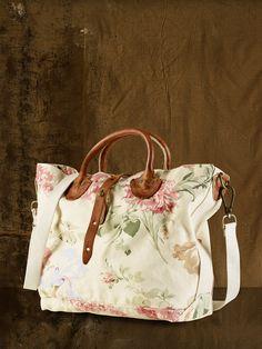 Canvas Floral Bag - Denim   Supply Handbags Handbags - RalphLauren.com 1c7c4d2a265de