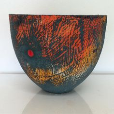 "115 Likes, 2 Comments - Lesley McInally Ceramics (@lesleymcinallyceramics) on Instagram: ""Orange #lesleymcinally #ceramics #ceramic #ceramique #contemporaryceramics #surface #orange"""