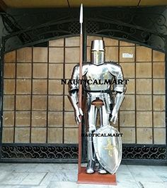 Shop Armor Knight Medieval Full Suit Of Armour - Halloween Costume With Free Stand By Nauticalmart. Free delivery and returns on eligible orders of or more. Suit Of Armor, Inventions, Knight, Armour, Medieval, Halloween Costumes, Suits, Amazon, Shopping