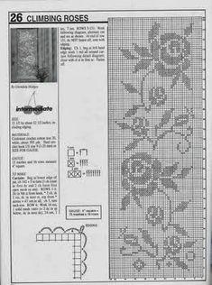Olá amigos,boa tarde.   Hoje vou postar um lindo gráfico de cortina com motivos de rosas   para você enfeitar sua janela da sala,da c...