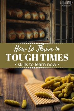 Being prepared for when times are tough -- or a full-on recession -- is an exercise in self-reliant living. If times get really tough, knowing how to survive and provide for ourselves is crucial. Learning some essential life skills now can make unexpected rough times easier to manage. #preparedness #survival #homestead via @Attainable Sustainable