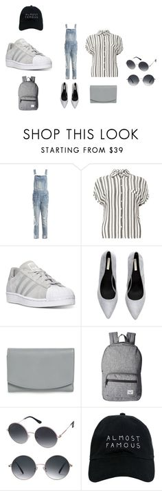 """A little gray"" by shaeluvmathis on Polyvore featuring Sans Souci, Dorothy Perkins, adidas, Skagen, Herschel Supply Co., Perverse and Nasaseasons"