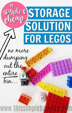 LEGO Storage | LEGO Organization | Best Way to Organize LEGOS | Cheap LEGO Storage Solution | Simple LEGO Storage | How to Store LEGOs