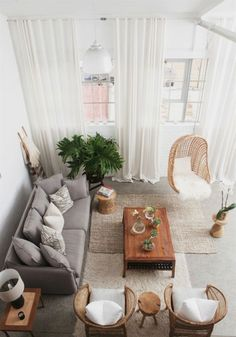 Amazing Scandinavian Living Room Ideas For Sweet Home Design Home Living Room, Apartment Living, Living Room Designs, Living Room Decor, Living Spaces, Studio Apartment, Cozy Apartment, Gray Couch Living Room, French Apartment