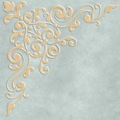 Avignon Corner Ceiling Stencil from Royal Design Studio Stencils Stencils, Stencil Art, Stencil Patterns, Stencil Designs, Decoupage, Plaster Art, Royal Design, Bar Design, Victorian Design