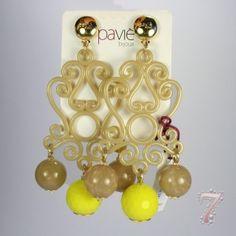 Orecchini con pendente arabesque e sfere finali paviè, su www.7accessori.it