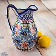 Polish Stoneware Flower Vase