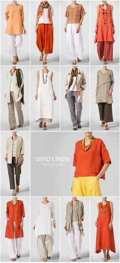 VIVID LINEN -Summer Style - Inspiration by the energetic of warmer neutrals: