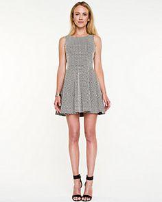 Jacquard Knit Fit & Flare Dress
