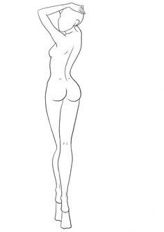 Fashion Drawing Tutorial, Fashion Figure Drawing, Fashion Model Drawing, Drawing Models, Drawing Faces, Fashion Design Sketchbook, Fashion Design Drawings, Fashion Sketches, Fashion Illustration Poses