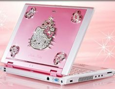 Hello Kitty Laptop! This needs our Hello Kitty Screen Cleaner