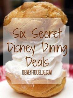 Six Secret Disney Dining Deals! Save some money at Six Secret Disney Dining Deals! Save some money at Disney Secrets, Disney World Tips And Tricks, Disney Tips, Disneyland Tips, Disney Stuff, Disney 2017, Disney Disney, Disney Family, Disney Princess