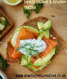 Here is a simple little dish that was inspired by an evening spent enjoying the delights of Norwegian food cooked by Signe Johansen. My smorbrod (Scandinavian style open sandwich) or Tartine (Frenc. Honey Smoked Salmon Recipe, Brunch, Norwegian Food, Salmon Avocado, Good Food, Yummy Food, Delicious Sandwiches, Health Breakfast, Salmon Fillets