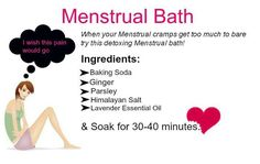 Natural Remedies For Menstrual Cramp Bath for cramps Period Cramp Relief, Period Cramps, Period Cramp Remedies, Fitness Workouts, Period Hacks, Period Tips, Remedies For Menstrual Cramps, Spa, Body Detox