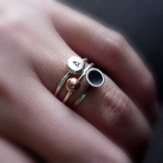 beautiful silver stacking rings