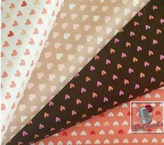 4 motifs 1 de chaque motif Coeur Camelot Fabrics par DeCousuCa