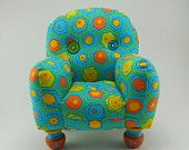 adorable!  Hexagon Geometrics Pincushion Chair