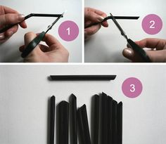 plastic straw himmeli | christmas | tutorials | TODO