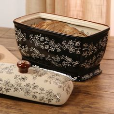 temp-tations® Floral Lace Covered Bread Box :: temp-tations® by Tara  Saving up for this...LOVE IT