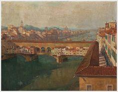 Ponte Vecchio, Firenze by Einar Mogens Wegener (Danish, 1882-1931)