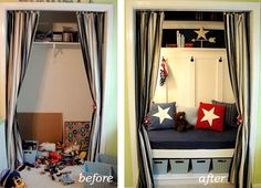 Turn a closet into a reading room! And have it look good. That's always the true test of a home diy!