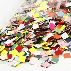 These card mosaic pieces are great for children to start mosaics. Ideal for card making, scrapbooking and other crafty projects. 52 21010. Colours: assorted. Size: 1cm each. | eBay!