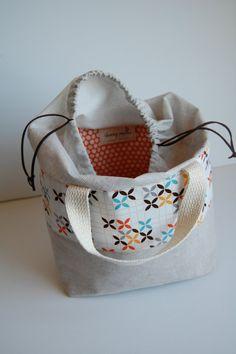 Zakka Style Bento Bag Made to Order Insulated by BPoppiesHandmade