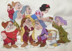 Cross-Stitch: Walt Disney Snow White and the Seven Dwarfs Finish...