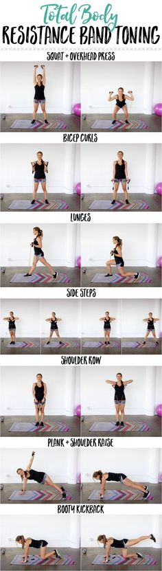 Yoga Fitness Plan - Total Body Resistance Band Workout - Get Your Sexiest. Body Ever!…Without crunches, cardio, or ever setting foot in a gym! Fitness Home, Sport Fitness, Yoga Fitness, Fitness Tips, Fitness Plan, Fitness Exercises, Body Exercises, Workout Fitness, Best Resistance Bands