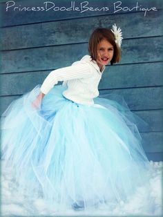 Winter Faerie - Custom Sewn long length tutu skirt - your choice of length and size - for portraits, holidays, flower girls  Ask a Question ...