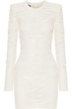 Balmain | Jacquard-knit Mini Dress | WedLuxe Magazine | #wedding #luxury…