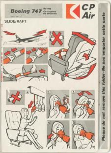 Canada Safety Cards - Canada Safety Card - Canada Safetycards - Canada Safetycard - my-safetycard. Pacific Airlines, Safety Instructions, Boeing 747, Cabin Crew, Aviation, Diagram, Air Lines, Canada, Juice