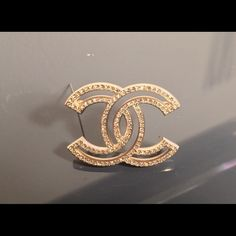 Authentic Chanel CC Brooch in YG with crystals Crystal CC CHANEL brooch. NEW Cruise Collection 2015 Timeless Piece CHANEL Jewelry Brooches