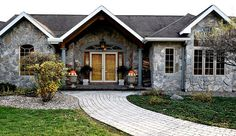 The front entryway of a home in Central New York