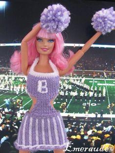 Tricot ou Crochet: tenue de Pom-Pom girl pour Barbie