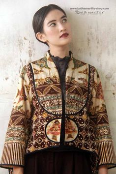 Batik Amarillis made in Indonesia proudly presents :Batik Amarillis's Arcana jacket #3 AVAILABLE at Batik Amarillis webstore http://batikamarillis-shop.com