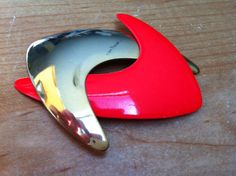 1950s vintage double boomerang brooch pin by retrowarehouse