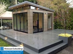 Looking to expand your living space? Visit www.outbuildings.ca today. West #Vancouver #Prefab #Workout room with wrap around #trex deck. One of the more complicated builds of 2013.