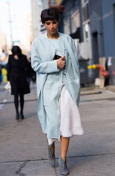 Princess Deena Abdulaziz Al-Saud looking elegant in crisp mint coat. #styleicon…