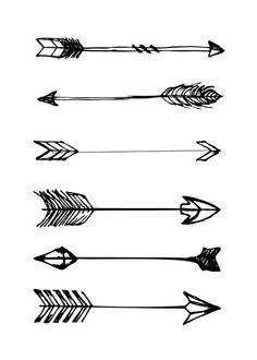 Free arrow black and white print