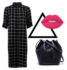"""Every black, has it's Pink "" by georgianapetrescu on Polyvore featuring Lime Crime and Lacoste"