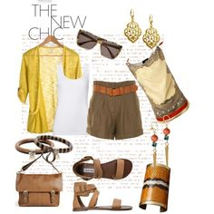 Safari fashion, created by mary-gereis on Polyvore - I'm not sure about the 80s mom shorts though