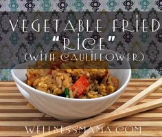 Vegetable fried rice with cauliflower