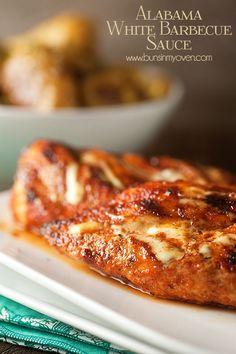 Alabama White Sauce Grilled Chicken recipe  | www.gourmetgrillmaster.com | #GourmetGrillmaster