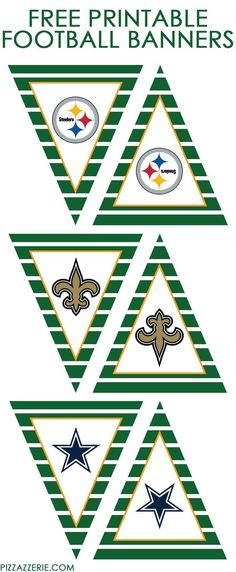 ALL NFL TEAMS | Free Printable Banners from http://Pizzazzerie.com